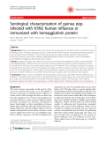 """Báo cáo y học: """"Serological characterization of guinea pigs infected with H3N2 human influenza or immunized with hemagglutinin protein"""""""