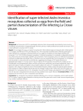 "Báo cáo y học: "" Identification of super-infected Aedes triseriatus mosquitoes collected as eggs from the field and partial characterization of the infecting La Crosse viruses"""