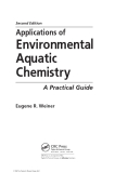 Applications of Environmental Aquatic Chemistry: A Practical Guide - Chapter 1