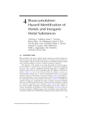 Assessing the Hazard of Metals and Inorganic Metal Substances in Aquatic and Terrestrial Systems - Chapter 4
