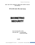 Bảo mật mạng Biometric for Network Security