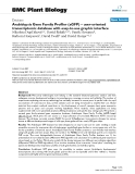 """báo cáo khoa học: """"  Arabidopsis Gene Family Profiler (aGFP) – user-oriented transcriptomic database with easy-to-use graphic interface"""""""