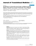 """báo cáo hóa học:""""  Identification of a biomarker panel using a multiplex proximity ligation assay improves accuracy of pancreatic cancer diagnosis"""""""