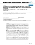 "báo cáo hóa học:"" Correlation between expression of p53, p21/WAF1, and MDM2 proteins and their prognostic significance in primary hepatocellular carcinoma"""