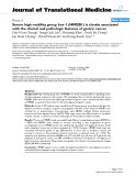 """báo cáo hóa học:""""  Serum high mobility group box-1 (HMGB1) is closely associated with the clinical and pathologic features of gastric cancer"""""""