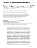 "báo cáo hóa học:""  Gene and microRNA analysis of neutrophils from patients with polycythemia vera and essential thrombocytosis: down-regulation of micro RNA-1 and -133a"""