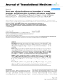 """báo cáo hóa học:"""" Short term effects of milrinone on biomarkers of necrosis, apoptosis, and inflammation in patients with severe heart failure"""""""
