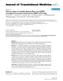 "báo cáo hóa học:""  Clinical values of multiple Epstein-Barr virus (EBV) serological biomarkers detected by xMAP technology"""