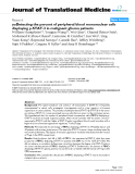 """báo cáo hóa học:""""  yuDetecting the percent of peripheral blood mononuclear cells displaying p-STAT-3 in malignant glioma patients"""""""
