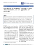 "Báo cáo hóa học: "" HPV vaccine: an overview of immune response, clinical protection, and new approaches for the future"""
