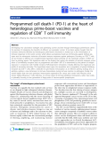 "Báo cáo hóa học: ""Programmed cell death-1 (PD-1) at the heart of heterologous prime-boost vaccines and regulation of CD8+ T cell immunity"""