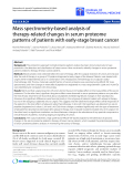 "Báo cáo hóa học: "" Mass spectrometry-based analysis of therapy-related changes in serum proteome patterns of patients with early-stage breast cancer"""