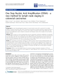 """Báo cáo hóa học: """"One Step Nucleic Acid Amplification (OSNA) - a new method for lymph node staging in colorectal carcinomas"""""""