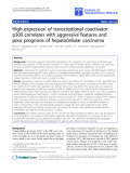 """Báo cáo hóa học: """" High expression of transcriptional coactivator p300 correlates with aggressive features and poor prognosis of hepatocellular carcinoma"""""""