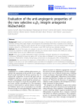 "Báo cáo hóa học: ""Evaluation of the anti-angiogenic properties of the new selective aVb3 integrin antagonist RGDechiHCit"""