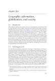 GEOGRAPHIC INFORMATION: Value, Pricing, Production, and Consumption - Chapter 5