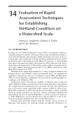 WETLAND AND WATER RESOURCE MODELING AND ASSESSMENT: A Watershed Perspective - Chapter 14