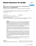 """báo cáo sinh học:"""" Impact of an in-built monitoring system on family planning performance in rural Bangladesh"""""""