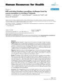 "báo cáo sinh học:"" HIV and infant feeding counselling: challenges faced by nurse-counsellors in northern Tanzania"""