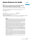 "báo cáo sinh học:"" Human resource management in the Georgian National Immunization Program: a baseline assessment"""