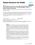 "báo cáo sinh học:"" Non-European Union doctors in the National Health Service: why, when and how do they come to the United Kingdom of Great Britain and Northern Ireland?"""