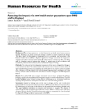 "báo cáo sinh học:"" Assessing the impact of a new health sector pay system upon NHS staff in England"""