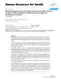 """báo cáo sinh học:"""" Empowering primary care workers to improve health services: results from Mozambique's leadership and management development program"""""""