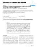 "báo cáo sinh học:""  Training of front-line health workers for tuberculosis control: Lessons from Nigeria and Kyrgyzstan"""