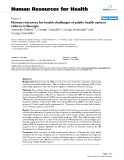 """báo cáo sinh học:"""" Human resources for health challenges of public health system reform in Georgia"""""""