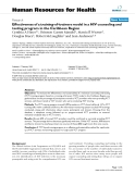 """báo cáo sinh học:"""" Effectiveness of a training-of-trainers model in a HIV counseling and testing program in the Caribbean Region"""""""