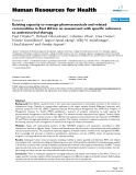 """báo cáo sinh học:""""  Existing capacity to manage pharmaceuticals and related commodities in East Africa: an assessment with specific reference to antiretroviral therapy"""""""