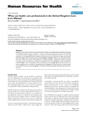 "báo cáo sinh học:""  What can health care professionals in the United Kingdom learn from Malawi?"""