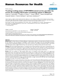 """báo cáo sinh học:""""  Tracking working status of HIV/AIDS-trained service providers by means of a training information monitoring system in Ethiopia"""""""