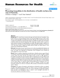 "báo cáo sinh học:"" Measuring inequalities in the distribution of health workers: the case of Tanzania"""