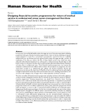 """báo cáo sinh học:""""  Designing financial-incentive programmes for return of medical service in underserved areas: seven management functions"""""""