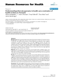 """báo cáo sinh học:"""" Understanding informal payments in health care: motivation of health workers in Tanzania"""""""
