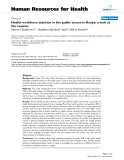 "báo cáo sinh học:"" Health workforce attrition in the public sector in Kenya: a look at the reasons"""