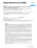 """báo cáo sinh học:"""" Retention of health workers in Malawi: perspectives of health workers and district management"""""""