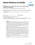 """báo cáo sinh học:""""  Challenges at work and financial rewards to stimulate longer workforce participation"""""""