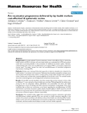 "báo cáo sinh học:""  Are vaccination programmes delivered by lay health workers cost-effective? A systematic review"""