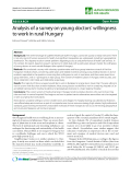 "báo cáo sinh học:"" Analysis of a survey on young doctors' willingness to work in rural Hungary"