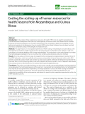 """báo cáo sinh học:"""" Costing the scaling-up of human resources for health: lessons from Mozambique and Guinea Bissau"""""""