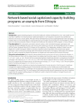 "báo cáo sinh học:"" Network-based social capital and capacity-building programs: an example from Ethiopia"""