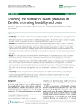"""báo cáo sinh học:""""  Doubling the number of health graduates in Zambia: estimating feasibility and costs"""""""