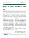 "báo cáo sinh học:"" Reviewing The Benefits of Health Workforce Stability James Buchan"""