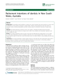 "báo cáo sinh học:""  Retirement intentions of dentists in New South Wales, Australia"""