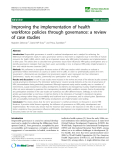 "báo cáo sinh học:""  Improving the implementation of health workforce policies through governance: a review of case studies"""