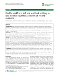 "báo cáo sinh học:""  Health workforce skill mix and task shifting in low income countries: a review of recent evidence"""