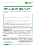 "báo cáo sinh học:"" Towards the construction of health workforce metrics for Latin America and the Caribbean"""