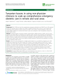 """báo cáo sinh học:"""" Tanzanian lessons in using non-physician clinicians to scale up comprehensive emergency obstetric care in remote and rural areas"""""""